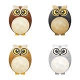 Historieta Owl Pack Imagen de archivo
