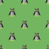 Historieta Owl Seamless Pattern Imágenes de archivo libres de regalías