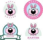 Historieta Pascua Bunny Graphic stock de ilustración