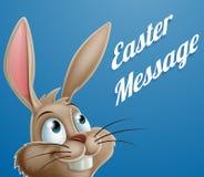 Historieta Pascua Bunny Message Foto de archivo