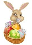 Historieta Pascua Bunny Rabbit Imágenes de archivo libres de regalías