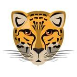 Historieta principal animal de la fauna del leopardo aislada stock de ilustración