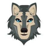 Historieta principal animal de la fauna del lobo aislada libre illustration