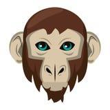 Historieta principal animal de la fauna del mono aislada libre illustration