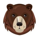 Historieta principal animal de la fauna del oso aislada libre illustration
