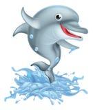 Historieta que salpica el delfín Foto de archivo libre de regalías