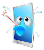 Historieta quebrada del teléfono libre illustration