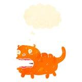 historieta retra del gato gordo loco Foto de archivo