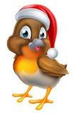 Historieta Robin Bird de la Navidad Fotografía de archivo libre de regalías