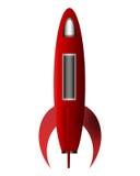 Historieta Rocket Foto de archivo libre de regalías