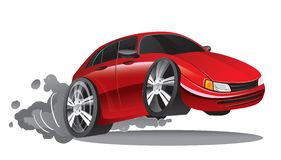 Historieta roja del coche deportivo libre illustration