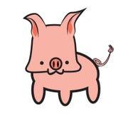 Historieta rosada del cerdo Ilustración del Vector