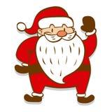 Historieta Santa Claus aislada en el fondo blanco Imagenes de archivo