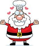 Historieta Santa Claus Chef Hug Fotografía de archivo libre de regalías