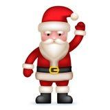 Historieta Santa Claus Toy Character Waving Hand ilustración del vector