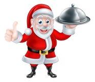 Historieta Santa Holding Food libre illustration