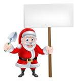 Historieta Santa Holding Trowel y muestra libre illustration