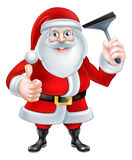 Historieta Santa Holding un enjugador stock de ilustración