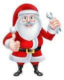 Historieta Santa Holding una llave inglesa Imagen de archivo libre de regalías