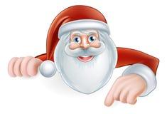 Historieta Santa Pointing Imagenes de archivo