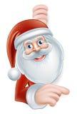 Historieta Santa Pointing Foto de archivo