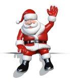 Historieta Santa que se sienta en un borde Foto de archivo libre de regalías