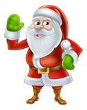 Historieta Santa Waving Foto de archivo libre de regalías
