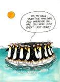 Historieta sobre semejanza de los pingüinos ilustración del vector