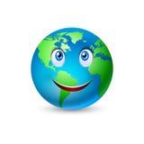 Historieta sonriente 2 de la tierra del planeta Fotos de archivo