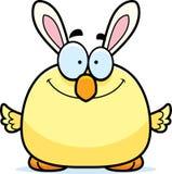 Historieta sonriente Pascua Bunny Chick stock de ilustración