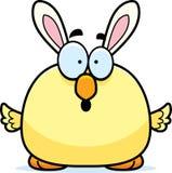 Historieta sorprendida Pascua Bunny Chick stock de ilustración