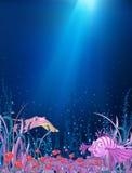 Historieta subacuática del océano stock de ilustración