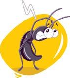 Historieta temerosa del vector de insecto de la cucaracha Fotos de archivo libres de regalías