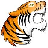 Historieta Tiger Head Imagen de archivo libre de regalías