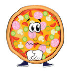 Historieta triste de la pizza Imagen de archivo