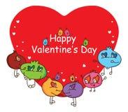 Historieta Valentines&#x27 feliz feo; cubierta del día de s libre illustration