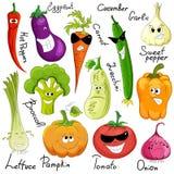 Historieta vegetal divertida aislada Imagenes de archivo