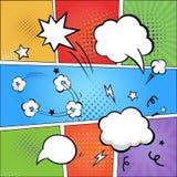 Historieta y burbujas cómicas del discurso en colorido stock de ilustración