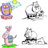 Historietas animales Imagenes de archivo