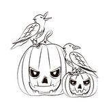 Historietas asustadizas de Halloween libre illustration