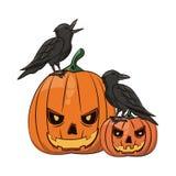 Historietas asustadizas de Halloween stock de ilustración