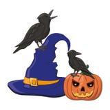 Historietas asustadizas de Halloween ilustración del vector