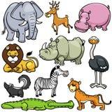 Historietas de los animales salvajes stock de ilustración
