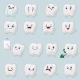 Historietas de los dientes fijadas stock de ilustración