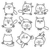 Historietas de los gatos del vector libre illustration