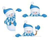 Historietas de los muñecos de nieve del vector ilustración del vector