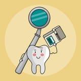 Historietas del cuidado dental libre illustration