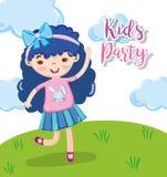 Historietas del partido de los niños stock de ilustración