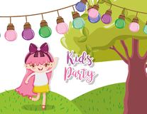 Historietas del partido de los niños ilustración del vector