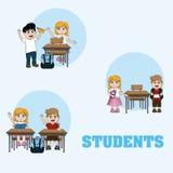 Historietas lindas de los estudiantes libre illustration